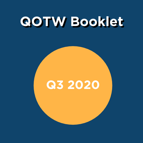 QOTW Booklet box- Q3 2020 gold