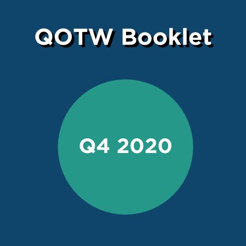 QOTW Booklet box- Q4 2020 green